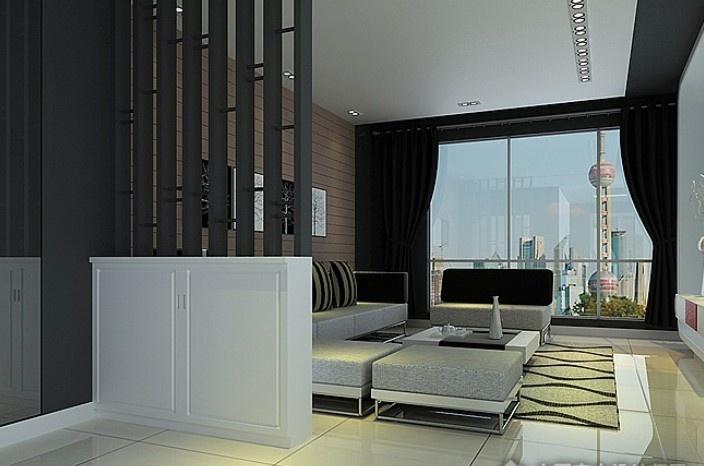 现代风格客厅隔断装修效果图大全