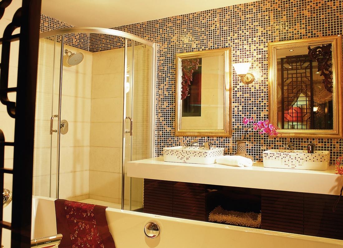 简约卫生间马赛克瓷砖装修效果图