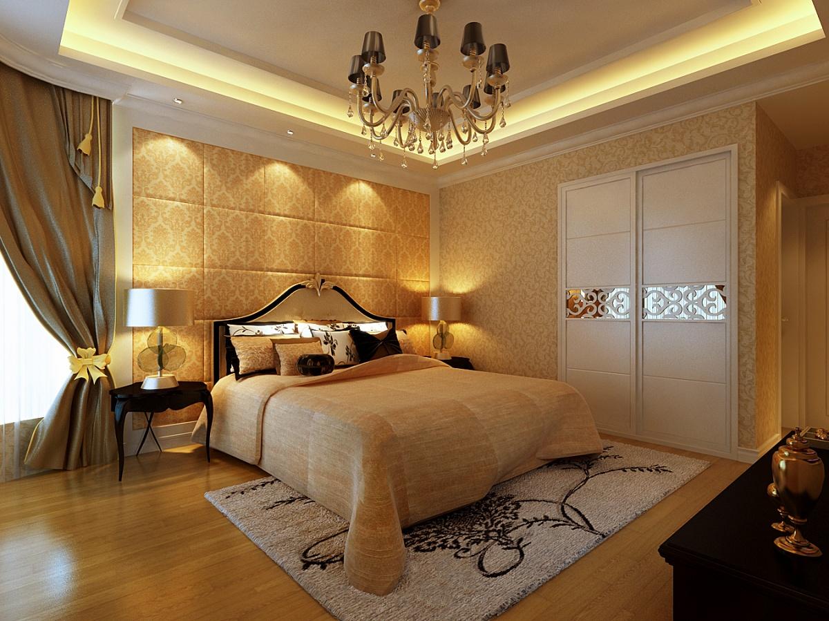 欧式现代卧室床头软包装修效果图大全