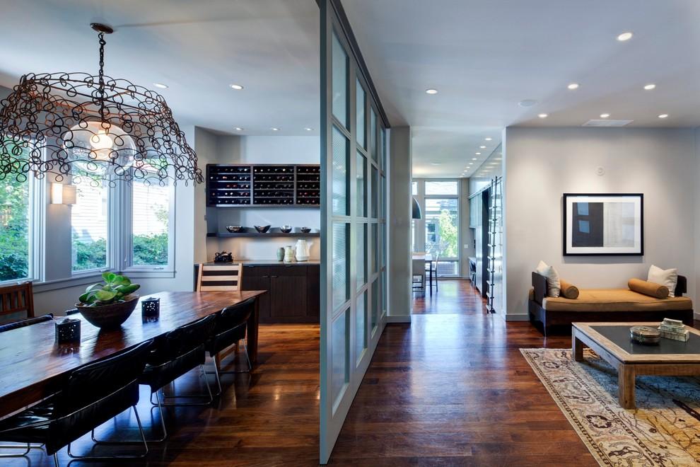 别墅客厅餐厅玻璃隔断效果图 4 5高清图片