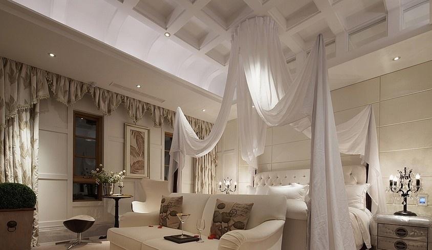 欧式家庭主卧室吊顶装修效果图装修效果图
