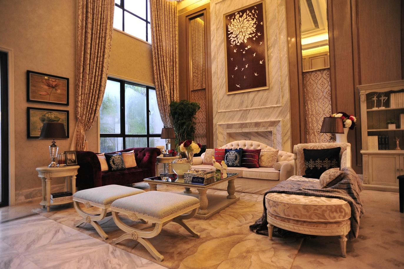 欧式豪华别墅客厅装修图片装修效果图