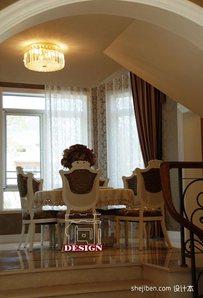 欧式餐厅水晶灯吊顶效果图装修效果图图片