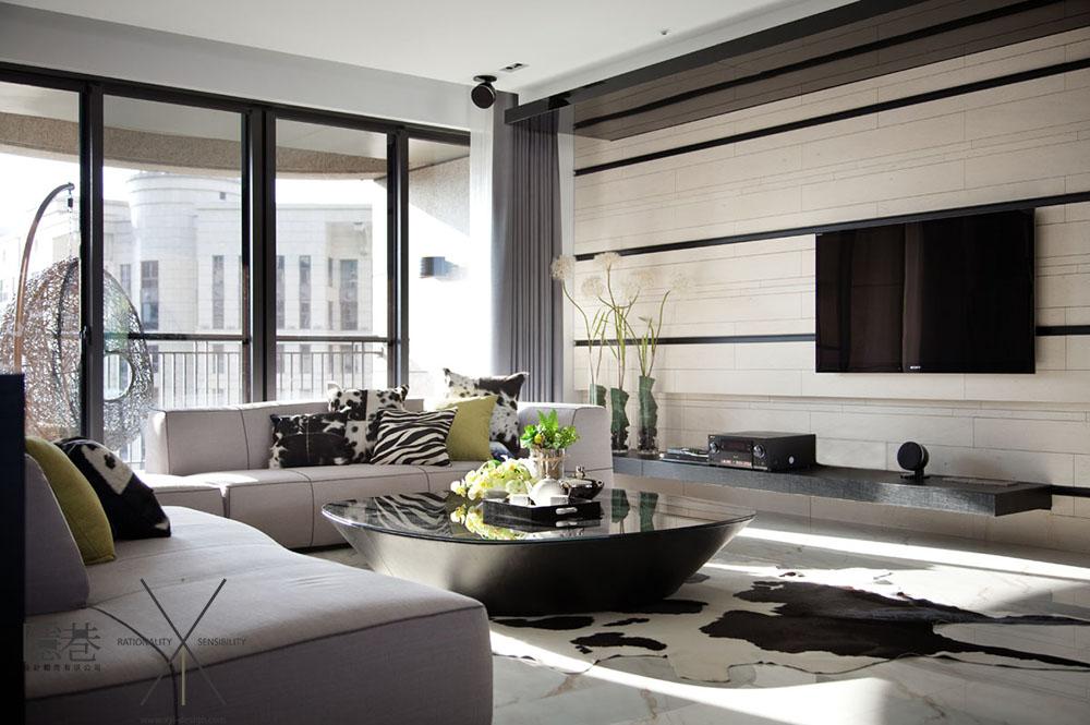 现代风格客厅电视墙设计效果图装修效果图 第15张 家居图库 九正家居网