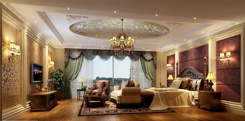 欧式豪华别墅卧室装修效果图装修效果图