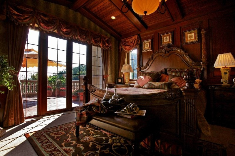 美式风格主卧室阳台隔断效果图装修效果图_第4张图片