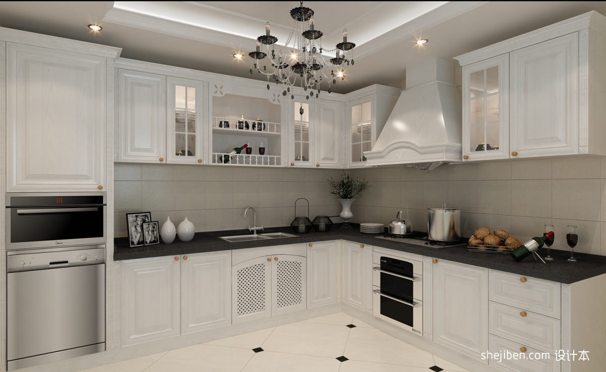 欧式整体厨房橱柜图片_第4张 - 九正家居装修效果图图片