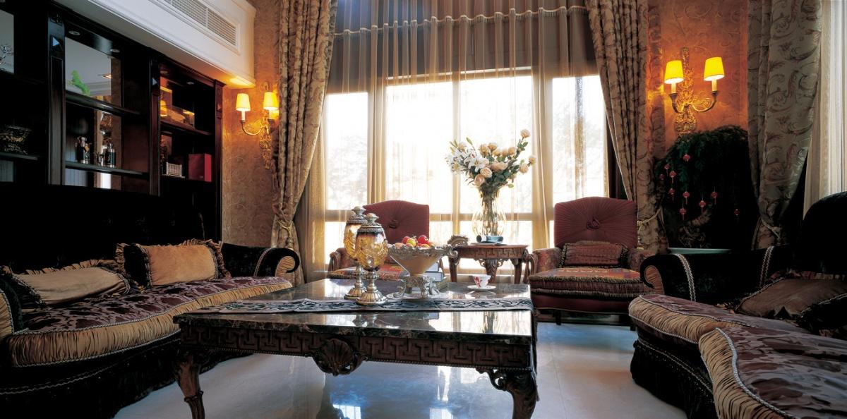 美式风格客厅窗帘装修效果图 (4/5)图片
