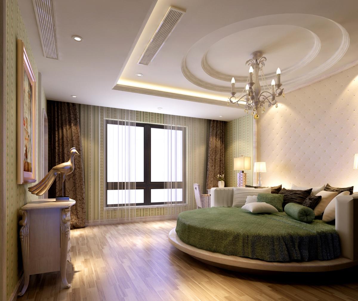 圆形卧室吊顶装修效果图装修效果图