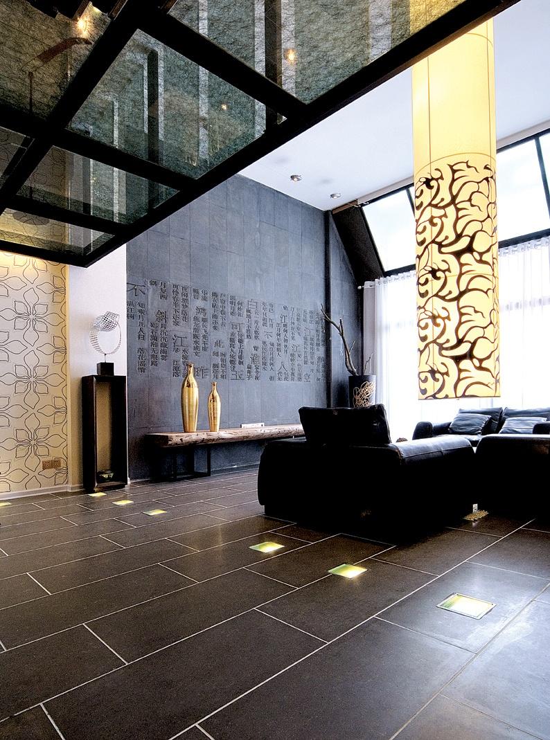 现代风格复式楼客厅图片