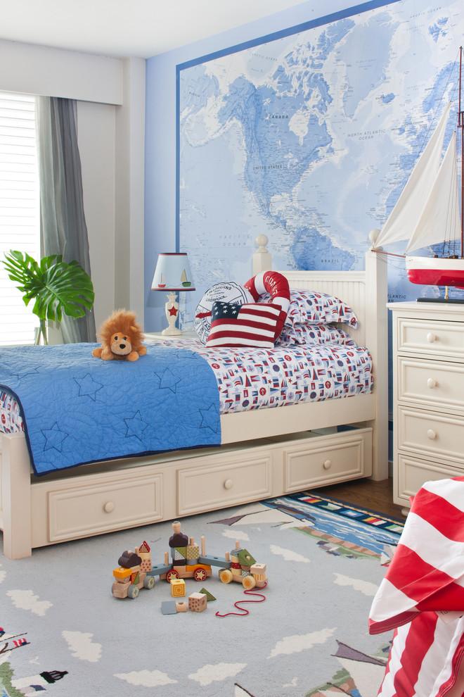 欧式简约儿童房卧室效果图装修效果图