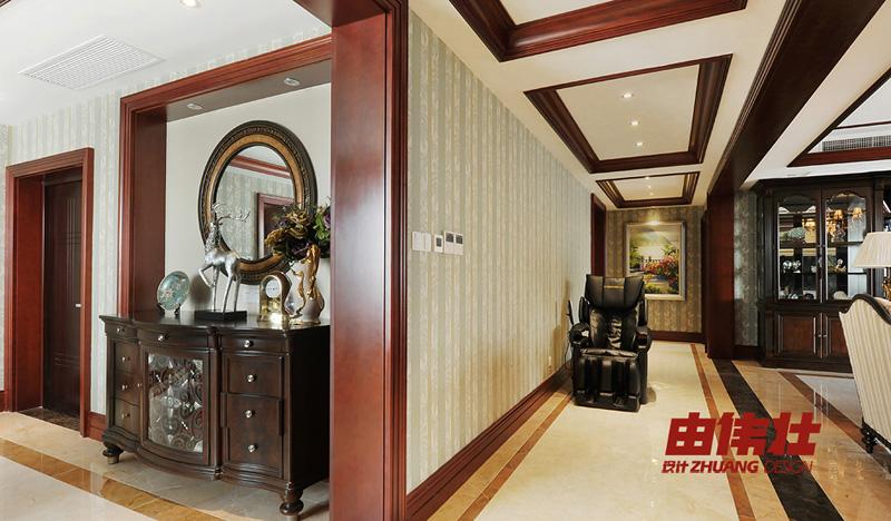 美式客厅过道吊顶装饰设计图 (7/13)图片