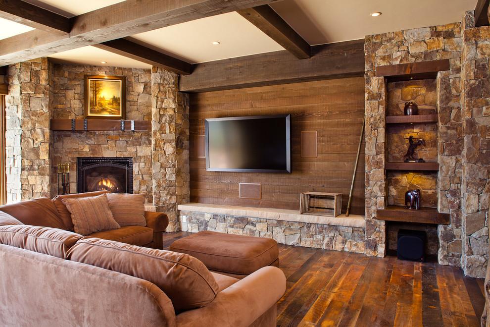 美式乡村室内装修电视墙效果图装修效果图 第3张 家居图库 九正家居网高清图片