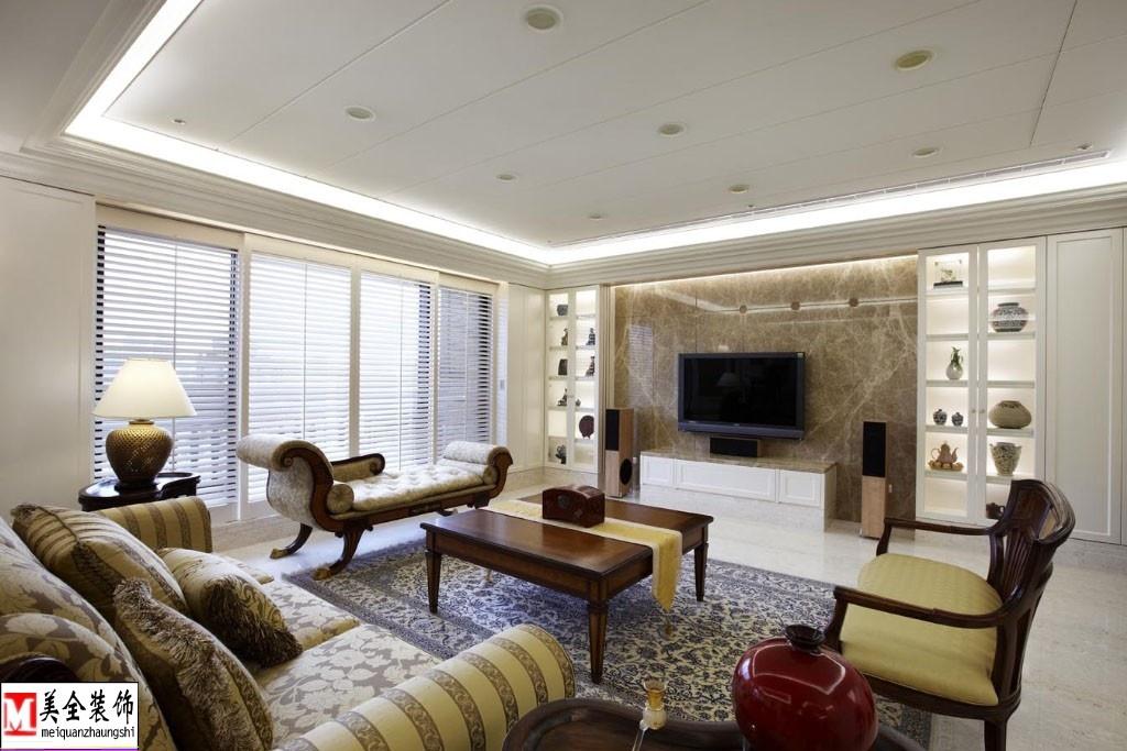 客厅大理石电视背景墙效果图片_第1张 - 九正家居装修