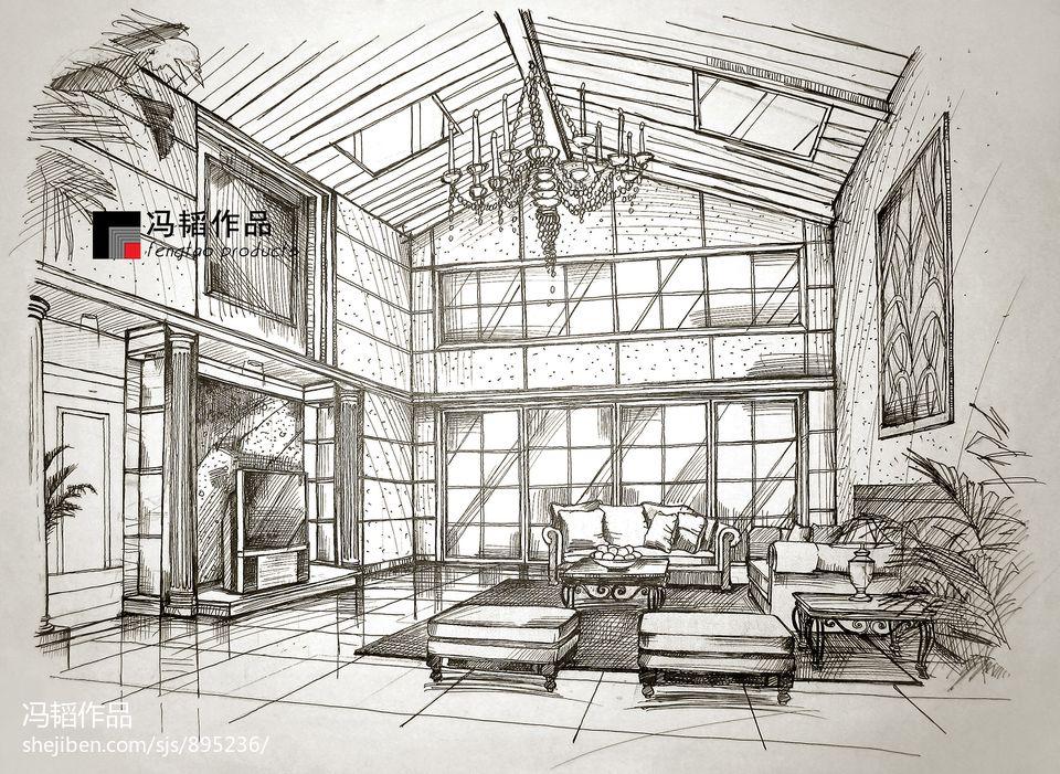 室内手绘效果图大全2013图片装修效果图
