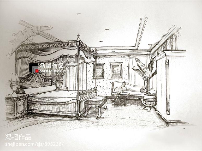 起居室室内设计手绘效果图大全装修效果图