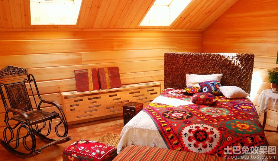 实木阁楼小卧室设计