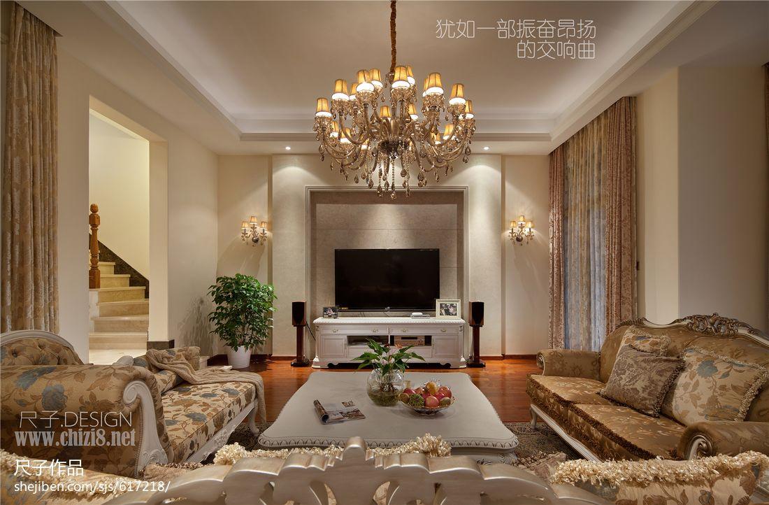 别墅客厅瓷砖电视背景墙效果图欣赏 (12/13)