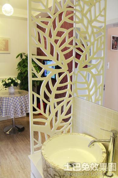 洗手台叶子状镂空隔断图片装修效果图_第4张 - 家居