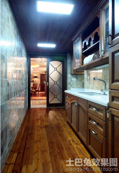 一字型厨房集成吊顶装修效果图装修效果图