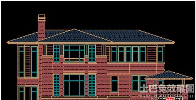 别墅屋顶设计平面图装修效果图 第2张 家居图库 九正家居网