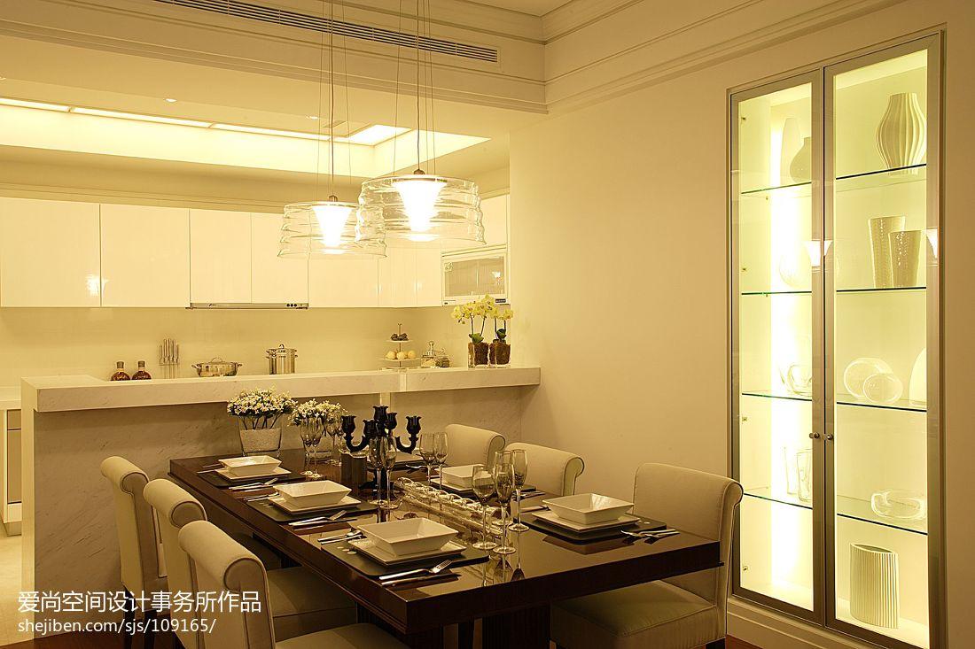 现代简约厨房餐厅吊灯装修效果图大全2013图片