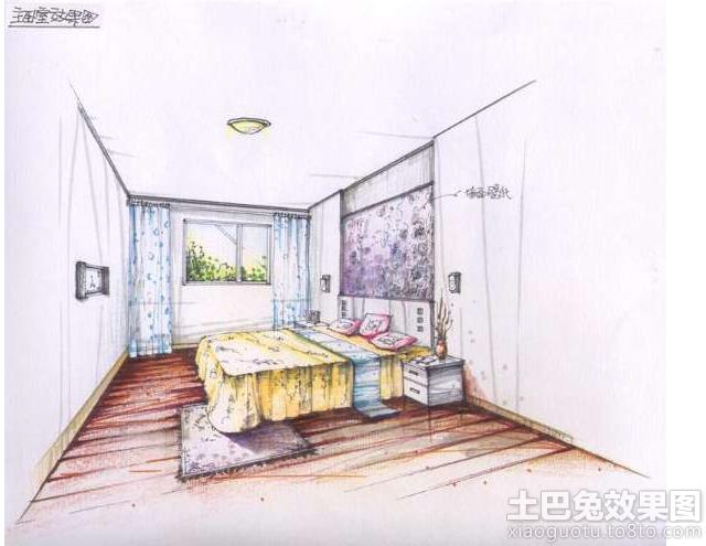 简单室内手绘效果图装修效果图