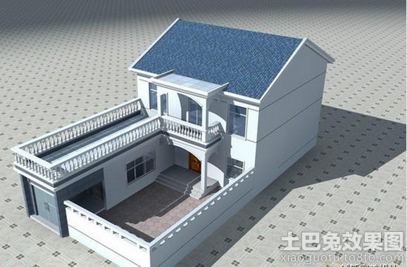 农村二层平房设计图装修效果图 第2张 家居图库 九正家居网