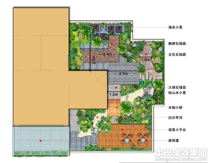 屋顶花园设计平面图装修效果图