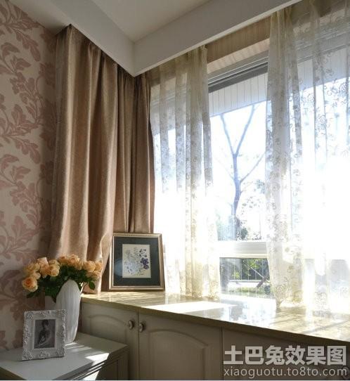 客厅拐角飘窗窗帘台面效果图装修效果图 第4张 家居图库 九正家居网