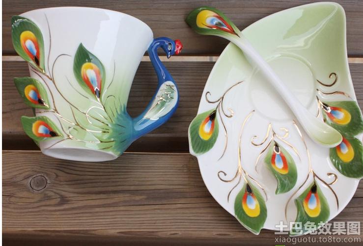 孔雀形状创意杯子设计图片装修效果图