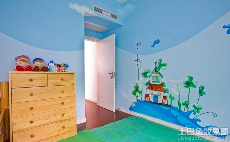儿童房墙体彩绘图片装修效果图