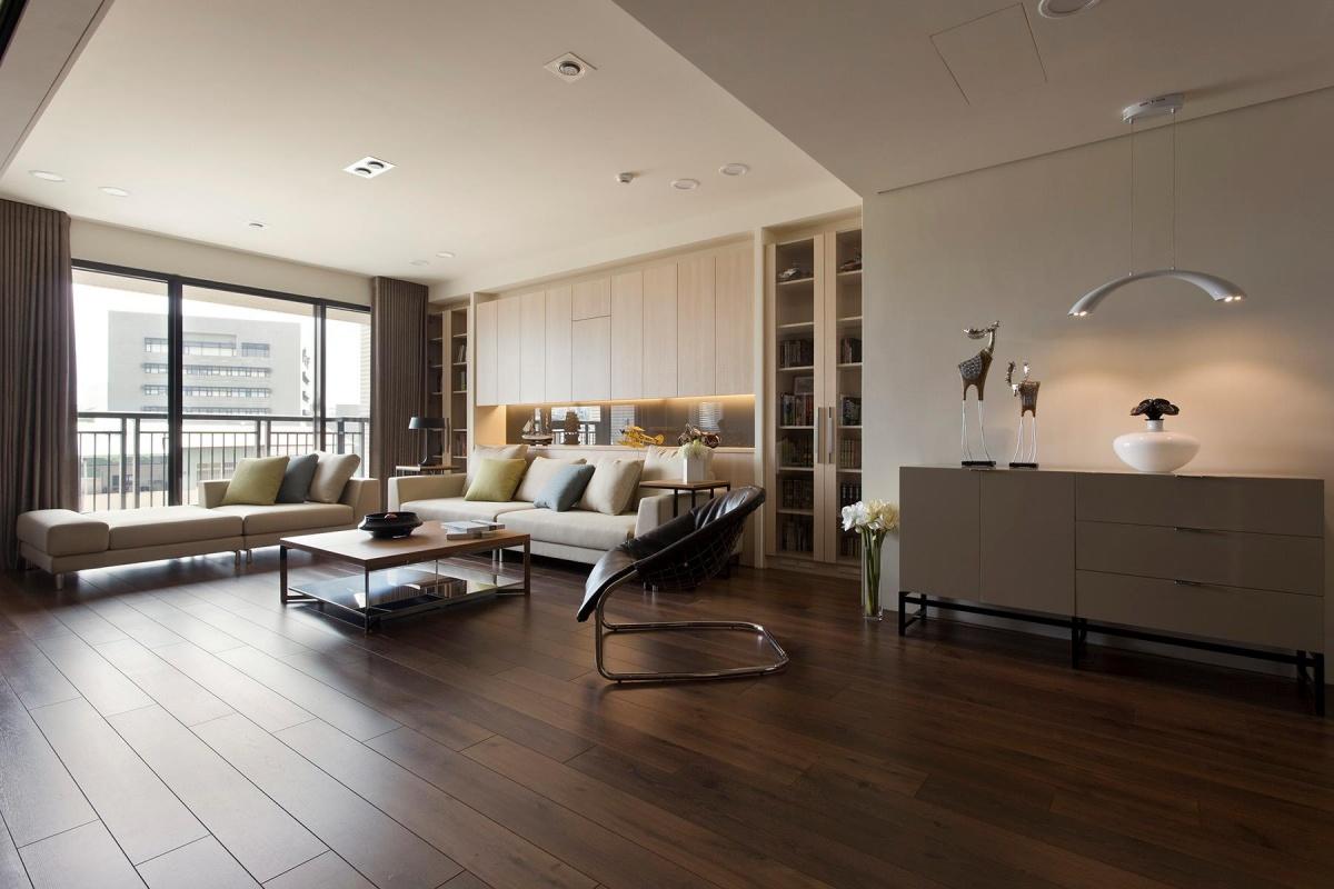 简约客厅木地板贴图装修效果图 第3张 家居图库 九正家居网