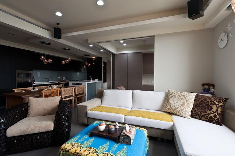 现代风格客厅沙发摆设效果图大全装修效果图 第3张 家居图库 九正家