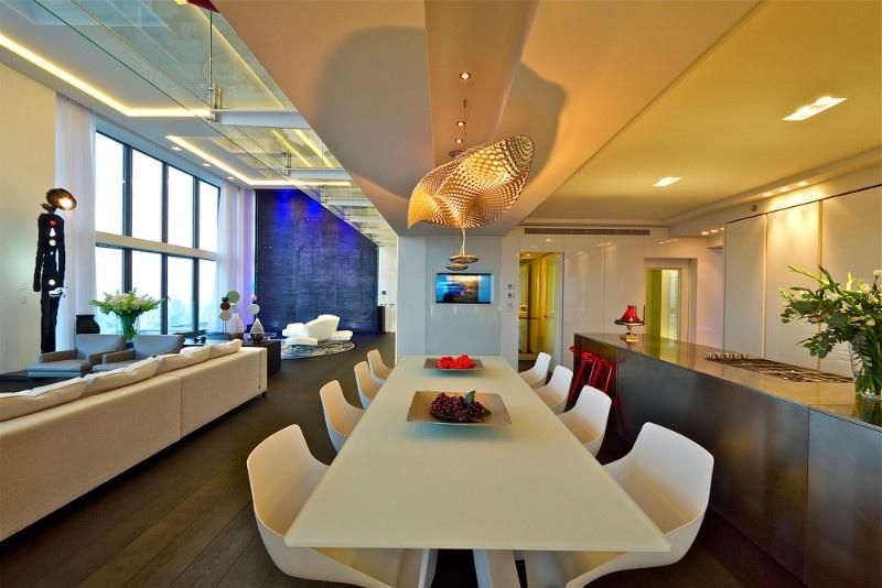 现代别墅餐厅吊灯造型设计