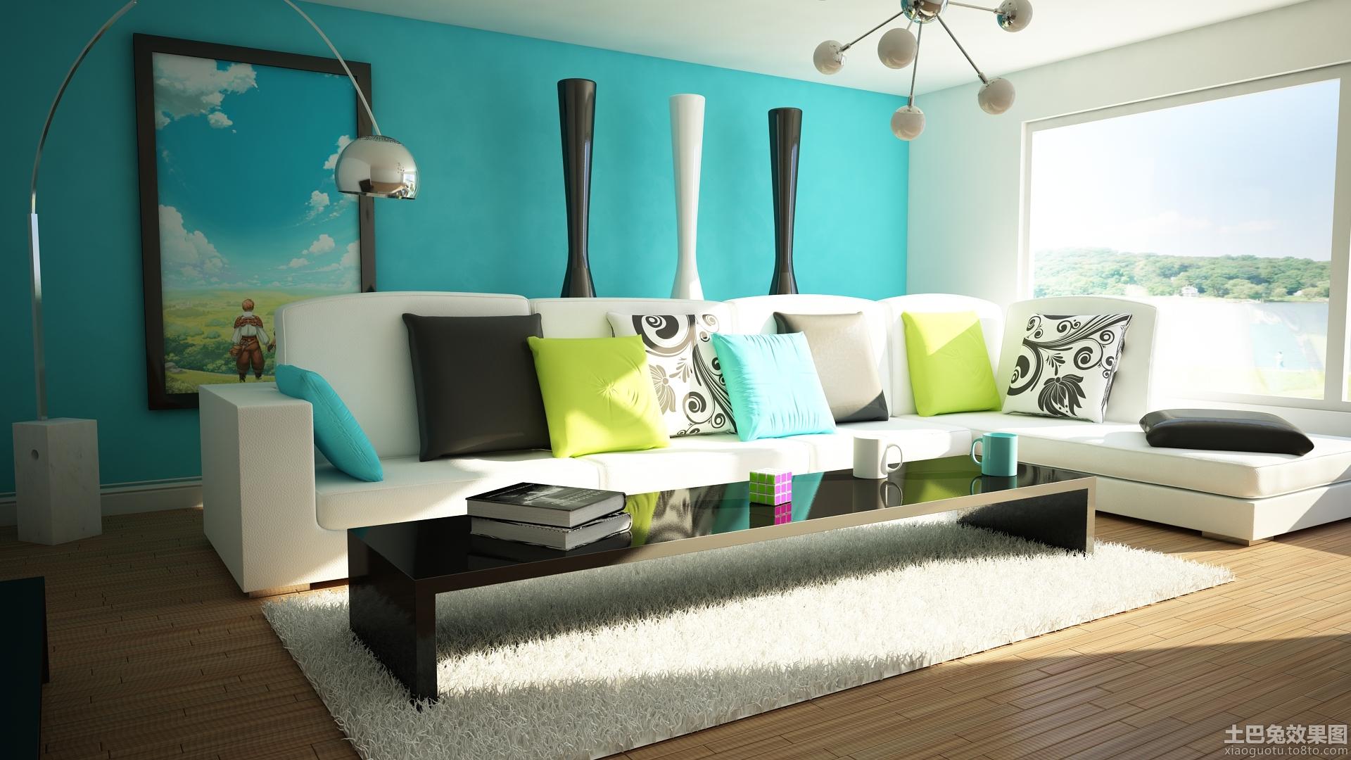 现代客厅墙画图片大全装修效果图 第1张 家居图库 九正家居网
