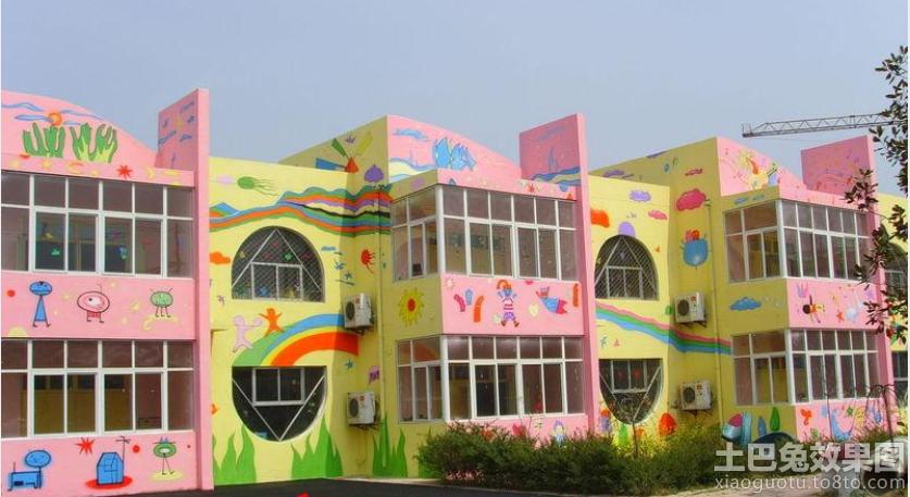 幼儿园外墙彩绘图片大全2013 (3/10)