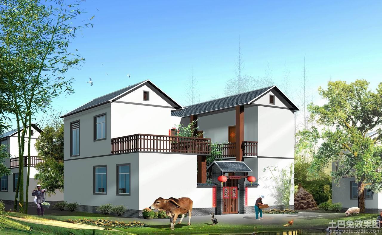 现代二层农村别墅户型图装修效果图 第3张 家居图库 九正家居网