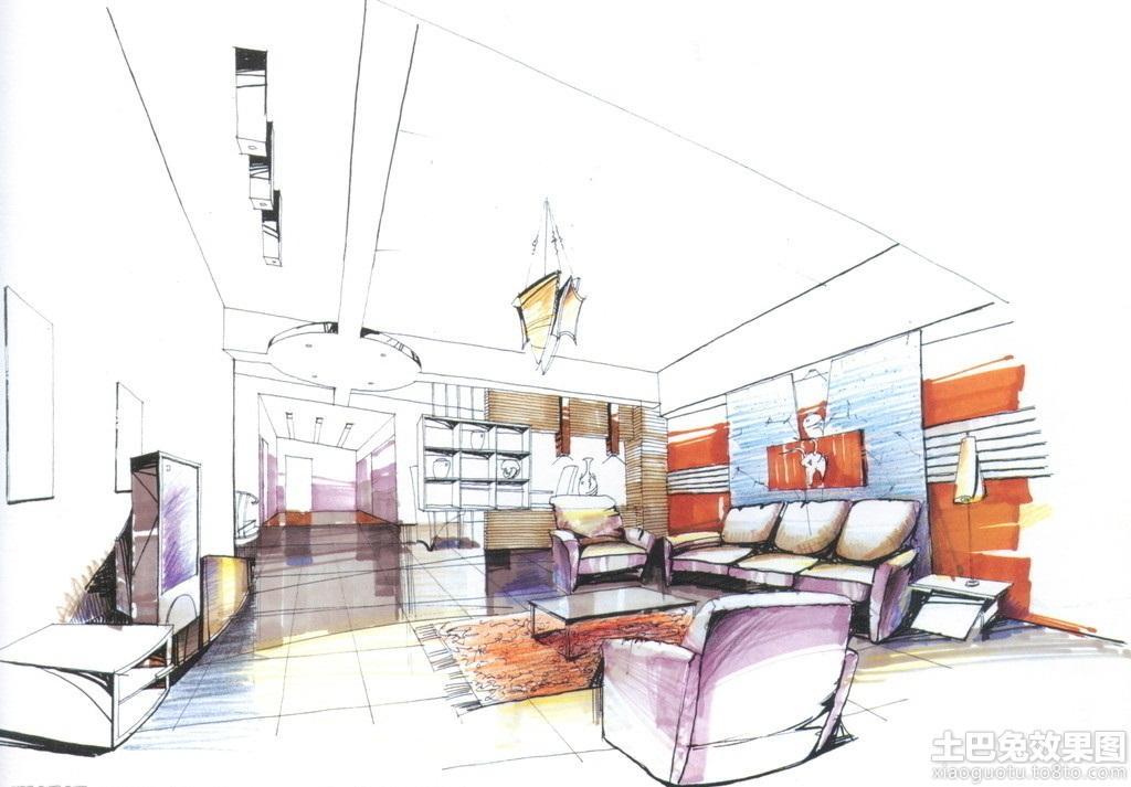 30平米大客厅手绘设计图装修效果图_第2张 - 家居图库
