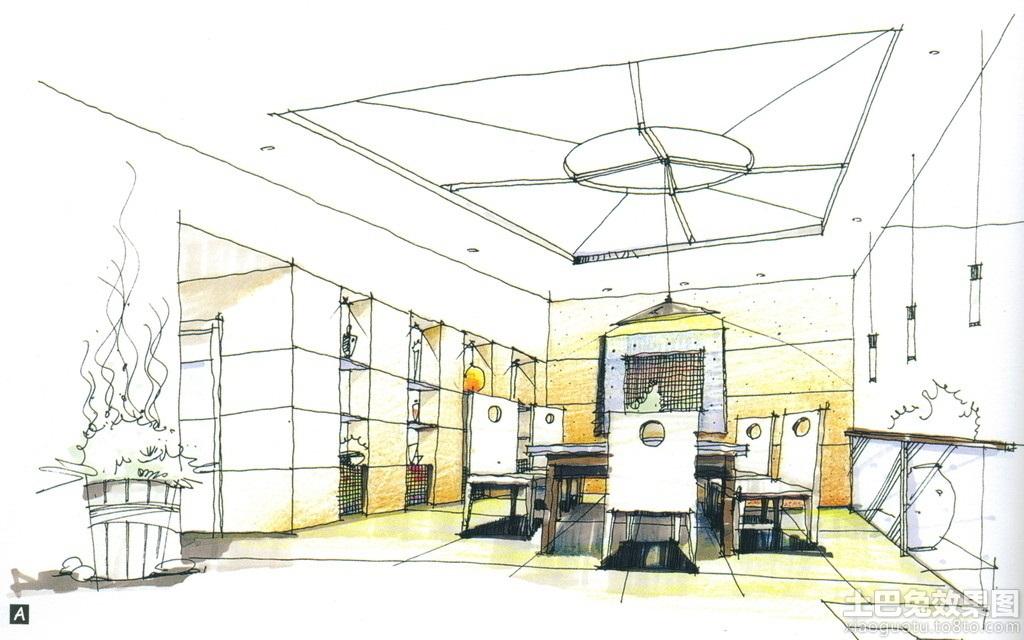 家庭餐厅室内手绘效果图装修效果图