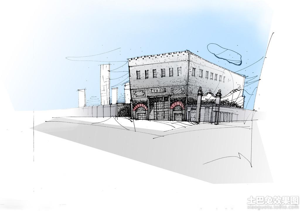 建筑室外手绘效果图装修效果图_第8张 - 家居图库