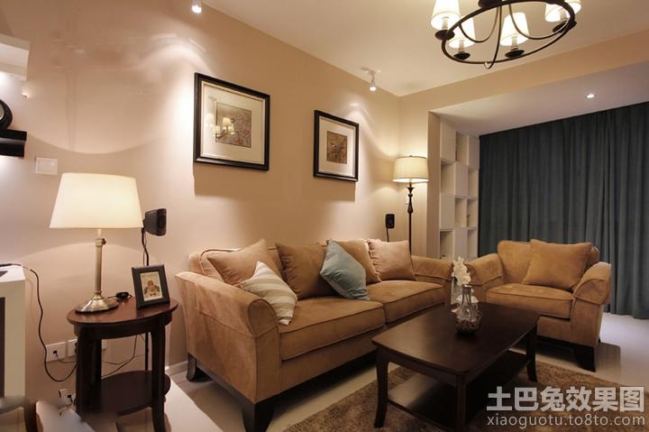 客厅浅咖色墙面漆效果图大全装修效果图 第5张 家居图库 九正家居网
