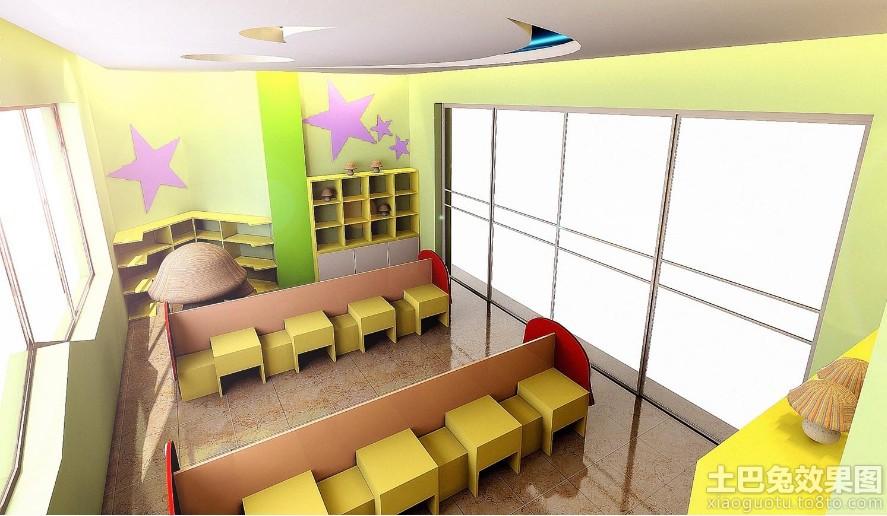 幼儿园窗户装饰布置效果图装修效果图