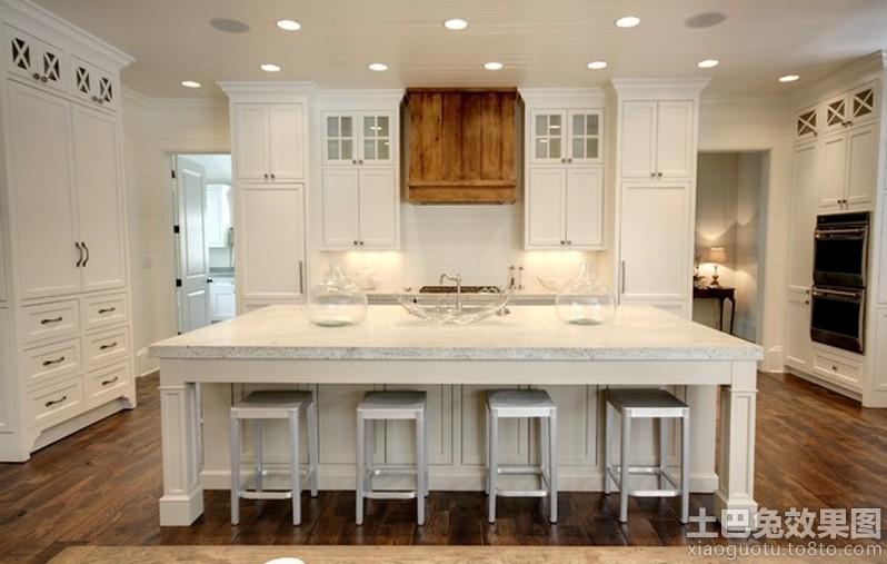 欧式开放式厨房样板间效果图装修效果图