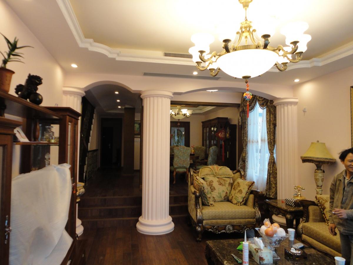 美式乡村风格复式楼客厅装修效果图装修效果图 第5张 家居图库 九正高清图片