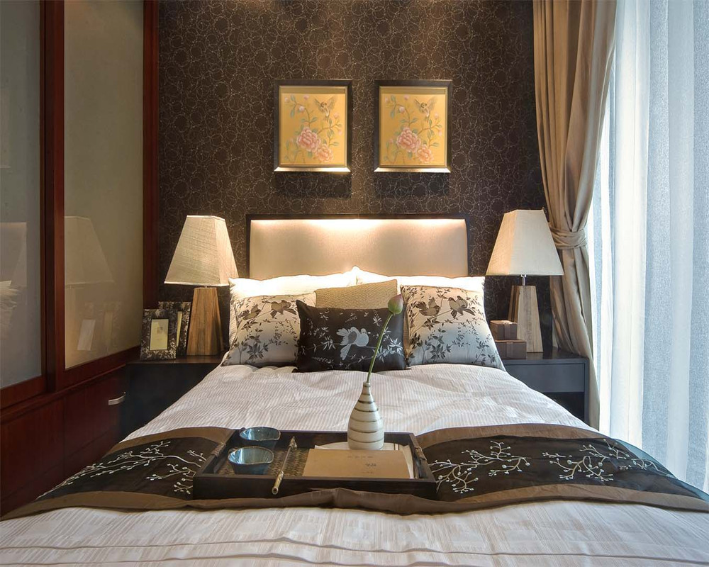 家居图库 新中式风格50平米小户型客厅装修效果图 > 第1张