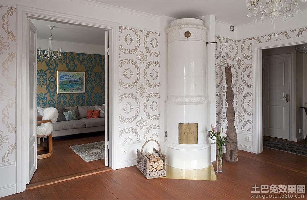 室内壁纸欧式花纹图片_第9张 - 九正家居装修效果图