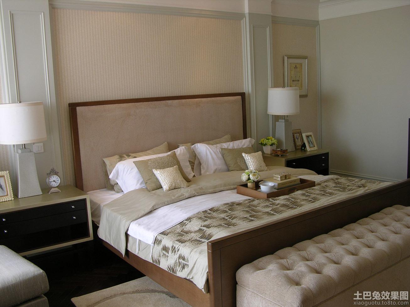 卧室床头背景墙装饰效果图大全图片 (9/10)图片
