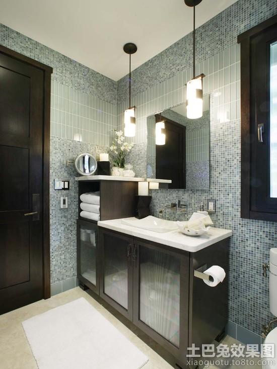 卫生间玻璃马赛克背景墙装修效果图装修效果图 第6张 家居图库 九正