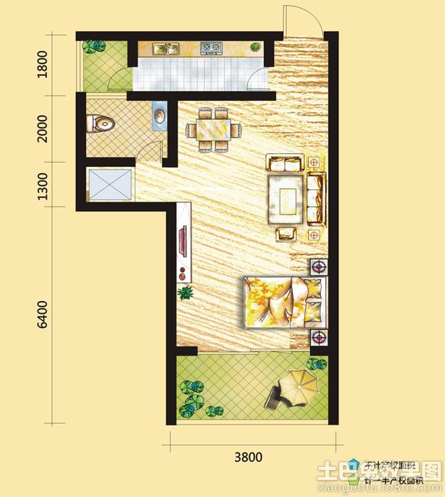 40平米小户型房屋平面设计图 (6/10)